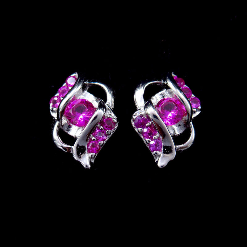 Fashion New Jewellery Design Plating Gold Crystal Earrings Jewelry For Girl